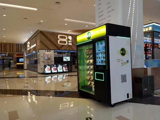 客户将购买的惠逸捷售货机放置在商城里