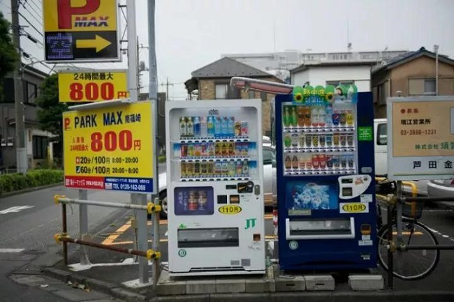 日本街边售货机
